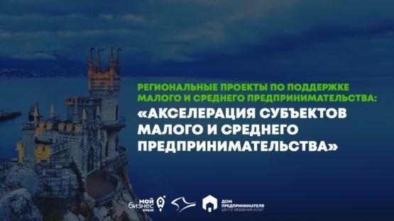 Региональные проекты по поддержке МСП: «Акселерация субъектов малого и среднего предпринимательства»