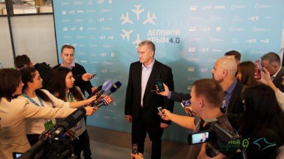 Сергей Аксёнов в прямом эфире телеканала «Крым 24»