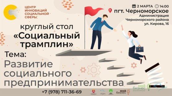 Круглый стол по социальному предпринимательству «Социальный трамплин»