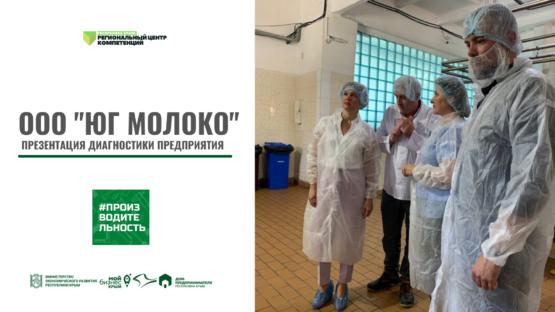 ООО «ЮГ МОЛОКО». Презентация диагностики предприятия
