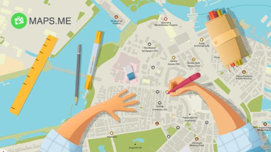 Сервис Maps.me запустил платформу с оценками и отзывами пользователей